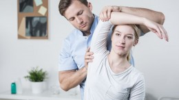 42870064 - close-up of male physiotherapist training with patient